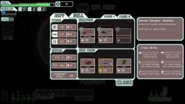 A store where the player can upgrade weapons and repair their ship's hull.