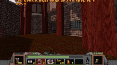 A scene from the town, the game's central hub.