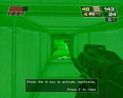 The night vision reminded me of Perfect Dark.