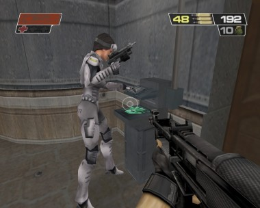 Tangier, is the mercenary team's resident hacker.