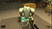 A drone turret! Like the original game you can hack them to be allied with you. Or you can just shut them down.