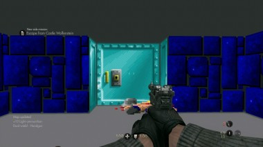 The Nighmare level, a throwback to 1992's Wolfenstein 3D