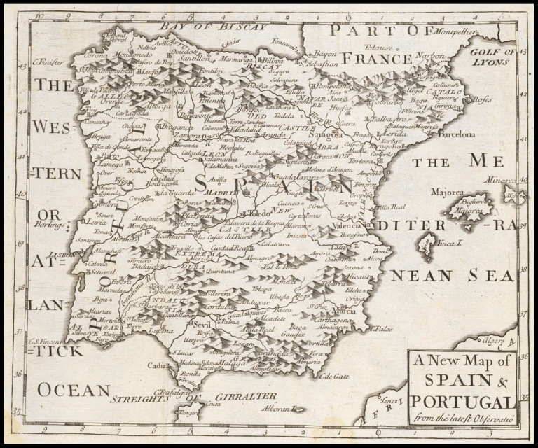 A new map of Spain and Portugal, from the latest observations